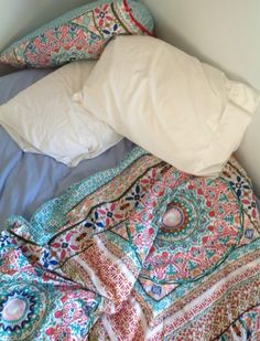Hipster eclectic multicolor comforter pretty