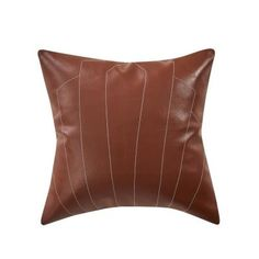 You'll love this Brown Square Archer Faux Leather Pillow! The faux leather texture of this pillow would look great paired with a solid color bed set. Modern Pillow Covers, Modern Pillows, Throw Pillow Sets, Decorative Throw Pillows, King Quilt Sets, Yellow Pillows, Leather Pillow, Leather Texture, Bedding Collections
