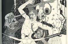 Juxtapoz Magazine - King Lear Illustrated by John Yunge-Bateman circa 1930s