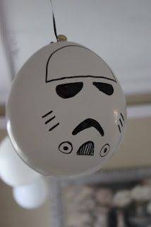 Kara's Creative Place: Star Wars Birthday Party- Storm Trooper Balloon