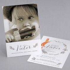 Das Kreativkarton erzeugt einen tollen Vintage-Effekt auf der #Taufkarte PN18-007