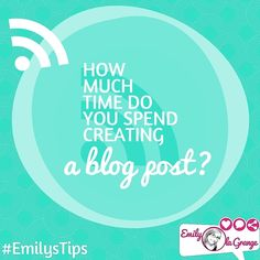 How much time do you spend creating a blog post?