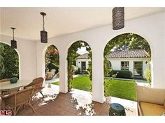 arched stucco covered patio | Arches in covered patio | For the Home | Pinterest