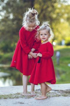 Sukienka Czerwona AW 2016/2017 - mizerkikids - Sukienki dla dziewczynek