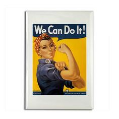 Rosie Riveter Rectangle Magnet #magnets #Gifts