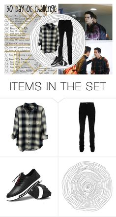 """""""30 days Oc chalenge// Day 5//Stiles Fitz//Stiles Red//Stiles Black"""" by patiblb ❤ liked on Polyvore featuring art and kitchen"""