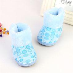 Baby Girl Snow Boots Toddler Infants Anti Slip Winter Fleece Shoes Zipper Prewalker