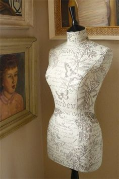 DIY: Make your own sewing mannequin. This looks awesome! What a fantastic idea.