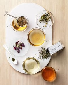 Our Favorite American-Made Companies | If there's one thing that Ann Morton and Emily Erb know, it's a cup of really, really good tea. That's why the two friends teamed up on Leaves & Flowers, where they concoct heady herbal brews, sourced from sustainable farms across the U.S. Each brew, from cult favorite Ajna to the bright and refreshing Flower Sun Tea, are highly aromatic and visuallly vibrant, guaranteed to transport you from the very first sip.  #americanmade #marthastewart