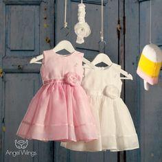 Βαπτιστικό Φόρεμα Lollipop | Angel Wings 070 Girls Dresses, Flower Girl Dresses, Summer Dresses, Christening, Girl Outfits, Princess, Wedding Dresses, Clothes, Beautiful
