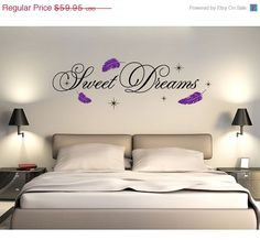 Labor Day Sale Sweet Dreams Wall Decal, Sticker, Mural, Vinyl Wall Art