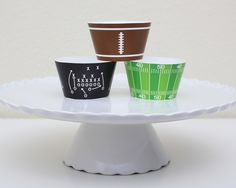 INSTANT DOWNLOAD Printable Football Cupcake by PixperStudio