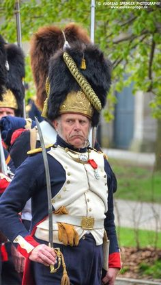 French; Imperial Guard, Grenadiers a Pied, Officer. Another of those rarities a reenactor who looks as though he might actually be a soldier.