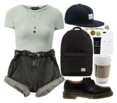 """""""thank you for that"""" by velvet-ears ❤ liked on Polyvore featuring Herschel Supply Co., Dr. Martens, Stila and Forever 21"""