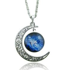 Necklace+Pendant+Necklaces+Jewelry+Wedding+/+Party+/+Daily+/+Casual+Moon+Unique+Design+Alloy+/+Glass+Women+1pc+Gift+Silver+–+USD+$+0.89