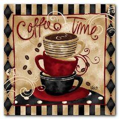 COFFEE CUP SHOP CAFE ART PRINTS – KITCHEN WALL DECOR!