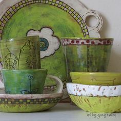 shapes of green - handmade ceramic art by giosy shapes of green - hand . shapes of green – handmade ceramics by giosy shapes of green – handmade ceramics by giosy Pottery Bowls, Ceramic Bowls, Ceramic Pottery, Pottery Art, Ceramic Art, Clay Bowl, Clay Crafts, Decoration, Art Images