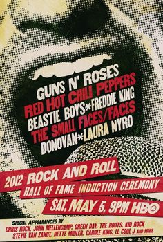 Rock and Roll Hall of Fame Induction Ceremony.  Poster design by Canyon Design Group