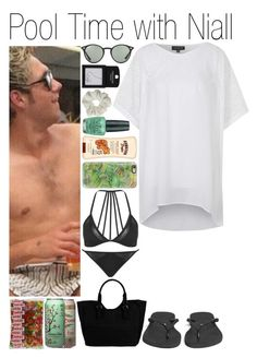 """""""#Pool Time with Niall"""" by didi-horan ❤ liked on Polyvore featuring Topshop, Havaianas, Patrizia Pepe, Ray-Ban, Casetify, Banana Boat, OPI and NiallHoran"""