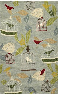 Aviary Area Rug II - Synthetic Rugs - Area Rugs - Rugs | HomeDecorators.com $149