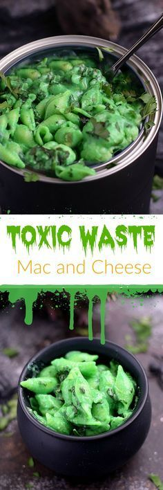 This Toxic Waste Mac and Cheese is disgustingly delicious and actually quite healthy. It's perfect for Halloween and the kids won't mind eating it | http://cookingwithcurls.com