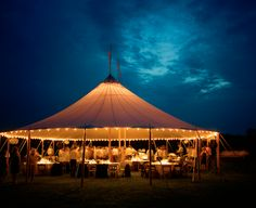 Harry Potter-inspired wedding tent