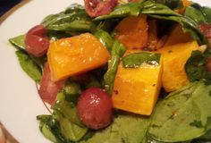 Fast Paleo » Spinach Salad with Roasted Butternut Squash & Grapes - Paleo Recipe Sharing Site