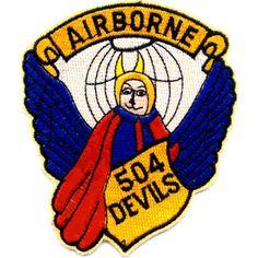 "504th Airborne Infantry Regiment Pocket Patch ""Airborne 504 Devils"""
