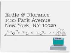 Custom Address Stamp Self Inking - Love Birds Design - AS29 (12.90 USD) by NoteImpress