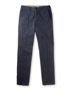 Four Pocket Cotton Chino Trousers in Blue