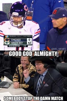 Score of the Packers vs Bears game.