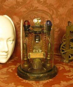 Tesla Spirit Tester Apparatus Steampunk Gear Professor Conrow Victorian Medical Laboratory Equipment Lab. via Etsy.