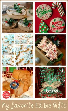 Delicious Edible Gift Food Present and Holiday Craft Ideas Food present, edible gifts and homemade holiday crafts are always a hit to make for family, friends and neighbors. Edible Christmas Gifts, Edible Gifts, Christmas Goodies, Homemade Christmas, Christmas Treats, Holiday Treats, Holiday Recipes, Holiday Gifts, Christmas Holidays
