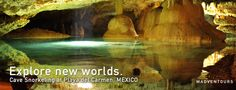 Exploring the amazing mexican caves.