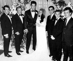 Elvis and Priscilla Presley's wedding at the Aladdin Hotel, Las Vegas, NV, May