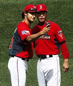 Yu Darvish (Texas Rangers) and Koji Uehara (Boston Red Sox)