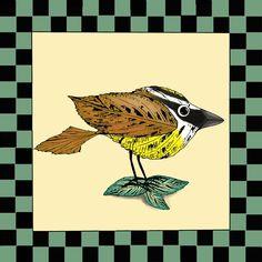 Folk Art Birds Country Home Decor Kiskadee