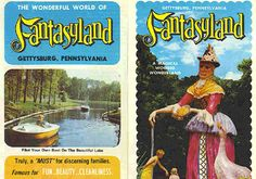 Nostalgiac to read about childhood places, I found several blogs and newspaper clippings on Fantasyland.  The park would be considered cheesy by today's standards, but we loved visiting.  The Mother Goose statue would actually talk when you walked by. It was open from 1959 to 1980 when it was purchased by the National Park System.  Apparently there are still some remnants of the park still to be found if you're brave enough to go past the no trespassing  signs.