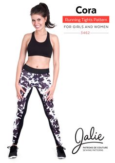 Cora Running Tights by Jalie