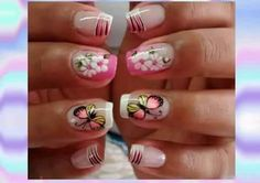Manicure, Nails, Diana, Perfect Nails, Butterflies, Work Nails, Enamel, Feltro, Pink
