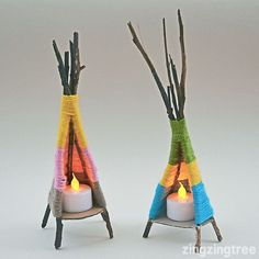 Yarn Craft Tipi -- great weaving craft for older kids!