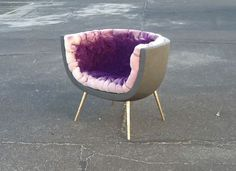 I really like this amethyst chair by Von Pelt styled after an amethyst geode :) Use amethyst for tranquility, calm, peaceful energies, sobriety, intuition and telepathy. Crystal Dragonfly