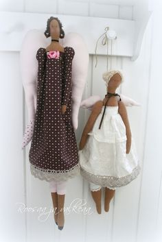 Roosaa ja valkeaa: Angels Doll Clothes, Sewing Projects, Dolls, Baba, Handmade, Collection, Angels, Dresses, Friends