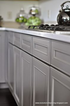 Sherwin Williams Gauntlet Gray. Evolution of Style: A Two-Toned Client Kitchen + An Announcement