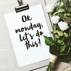 Monday's are for fresh starts... So release all the negativity & make this week count!