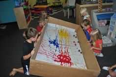 PreKandKSharing: Super-Sized Learning Huie I think this would be great for our kids! Painting For Kids, Art For Kids, Crafts For Kids, Kids Fun, Toddler Activities, Preschool Activities, Marble Painting, Marble Art, Painting Art