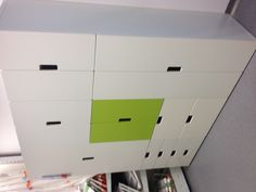 Ikea Stuva cabinets to store toys
