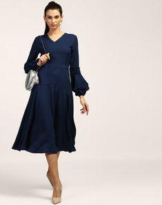 1dd0e1a3ad8 Buy Blue Regina Midi Dress Online at StalkBuyLove