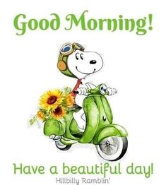 Good Morning Snoopy, Cute Good Morning Quotes, Good Day Quotes, Good Morning Good Night, Cute Quotes, Snoopy Cartoon, Snoopy Comics, Snoopy Images, Snoopy Pictures