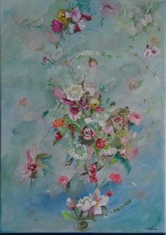 Alegrando Espacios  Taller de cuadros  Acrílicos sobre lienzo Floral painting